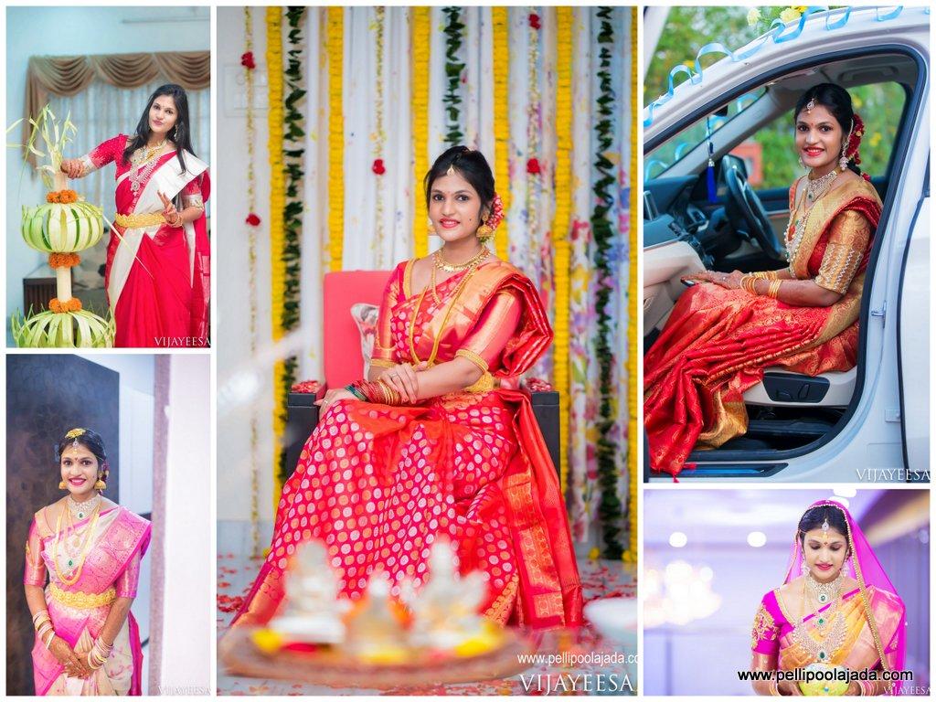 Telugu bride_ Kanchipattu saree_kanjeevaram