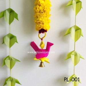 Re-usable palm leaf parrots for Indian weddind decor