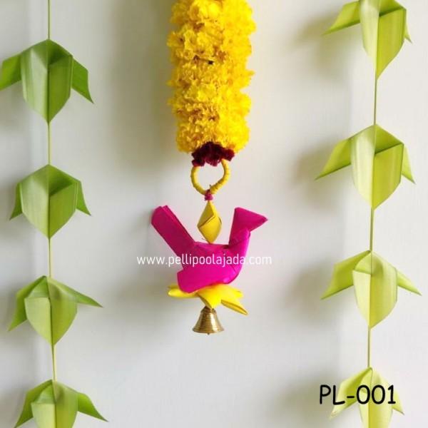Re-usable palm leaf parrots for Indian weddind decor
