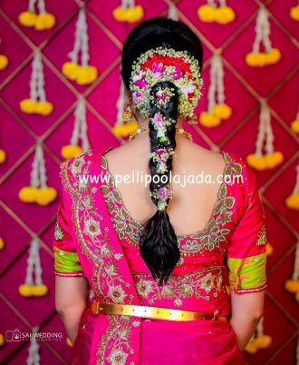 Baby Breath and carnation floral Special veni's - Hyderabad